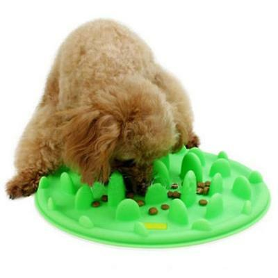 Pet Dog Cat Slow Eating Feeder Bowl Puppy Silicone Feed Bloat Dish 3 Colors JJ
