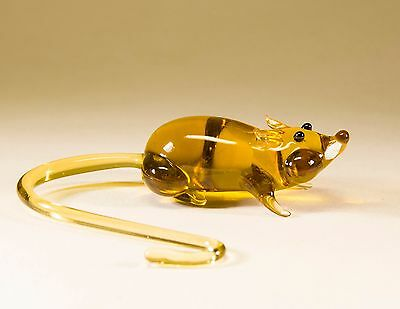 """MOUSE Mice Hand-Blown Russian Made Glass Figurine """"MURANO"""" Style #A81"""