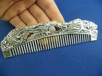 Chinese Tibet Silver Dragon Fung comb