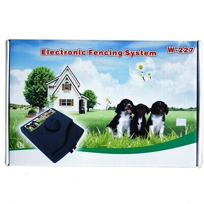 Electric Pet Dog Fence Wireless Waterproof Barrier Boundary Collar W227 Set