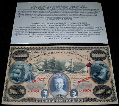 Magnificent Maritime Newfoundland $1M Fantasy Art Bill!