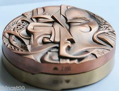 China 2012 Brass and Copper Medals Set - Yin and Yang