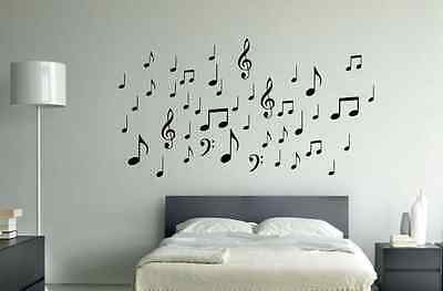 42 Music Notes (W20) Wall Decal Sticker Arts & Crafts/Mission
