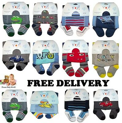 Yo! Yorker Baby Boys Rich Cotton Mix Tights Leg Warmers Socks 0 - 36 Months New8
