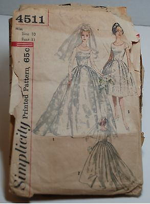 Vintage Wedding Dress Patterns from the 1960's - 3 patterns