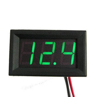Green Mini DC 4.7V-30V LED Voltmeter 3-Digital Display Voltage Panel Meter Gauge