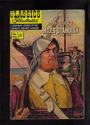 Classics Illustrated #92 G-  (O)   Hrn92  (Longfellows Miles Standish)