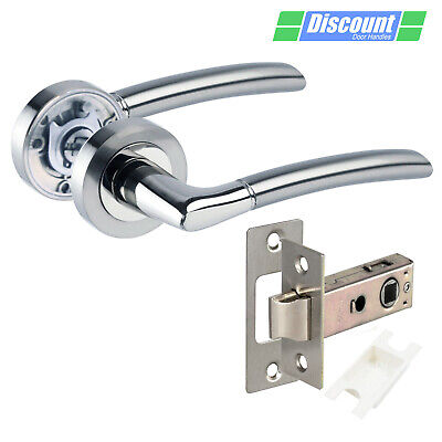 Internal Door Handles with Duo Chrome Lever Handles on Rose