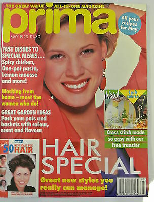 Prima Magazine. May 1993. Fast dishes to special meals. Hair special new styles.