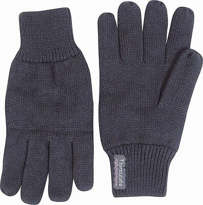Mens Thermal Thinsulate Type Knitted Full Finger Gloves Winter Warm Woolly Mitts