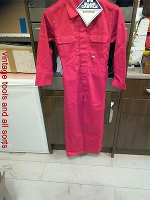 Red Overalls For Kids Blue Castle Quality Workwear