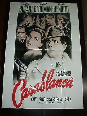"""""""New"""" Casablanca Movie Poster (26 1/2"""" x 39 3/4"""") Folded with Creases"""