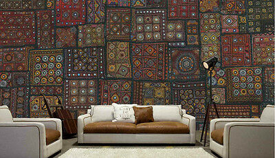 Embroidery from India 15' x 9' (4,57m x 2,75m)-Wall Mural