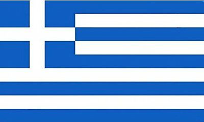 "18"" x 12"" (45 x 30 cm) Greece Greek Sleeved Boat Hand Waving Polyester Flag"