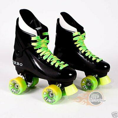 Ventro Pro Turbo Quad Roller Skates, Bauer Style - Yellow Lime Green