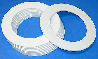 White Laser Cut Plastic Rings In 3Mm Thick Acrylic Discs New With Film On