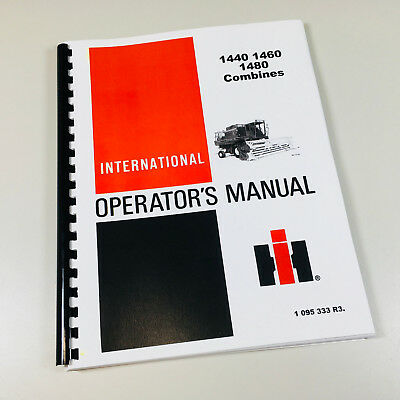 International 1440 1460 1480 Combine Operators Owners Maintenance Manual Shop