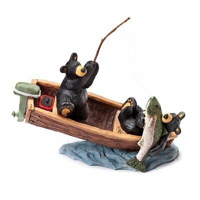 New In Box Bearfoots Bear The Lunker Fish & Boat By Jeff Fleming