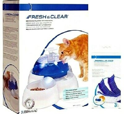WATER FOUNTAIN / FILTER - Cat it Fresh & Clear Food Bowl Drink Purifying Filter