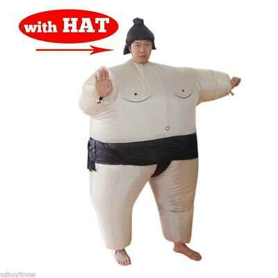 SUMO Fancy Dress Fan Inflatable Costume Suit with Hat