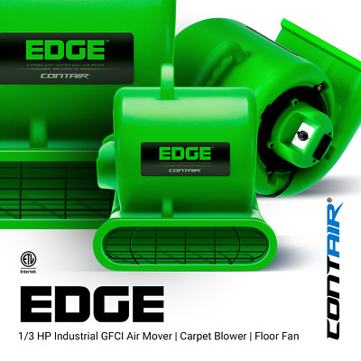 Contair® EDGE Air Mover Carpet Dryer Blower Floor Fan High CFM Green Color