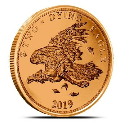 Zombucks Dying Eagle 1 oz .999 Copper BU Round USA Made ZOMBIE Bullion Coin