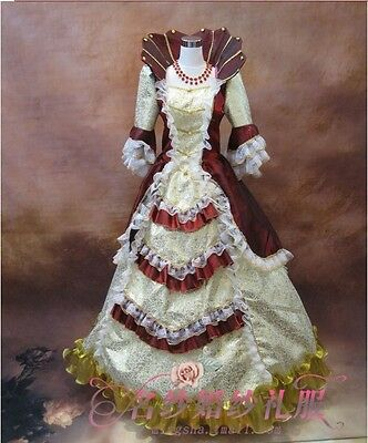 18th Rococo Baroque Cosplay High collar Costume Marie Antoinette Gown Dresses