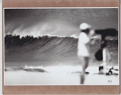 "Surf Photographer 1987 Near 'gas Chambers' Hand Printed Photograph On 8X10"" Mat"