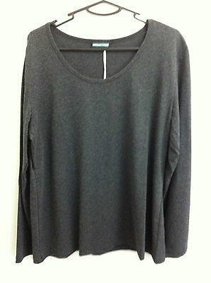 Maternity Plus - Long Sleeve T Shirt/top - Charcoal - Xxl