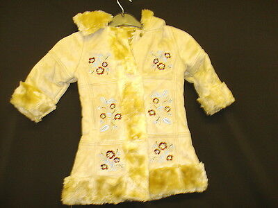 Girls size 1-1.5 fawn fur lined, patchwork style,hooded coat (R32.34)