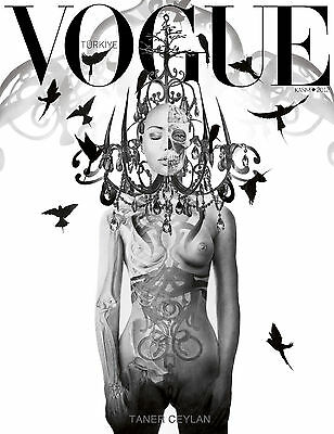 A0 SUPER size frame large black white vogue cover poster art for glass frame
