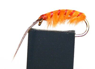 ICE FLIES Nymph. Marflo Orange . (4-pack). Available in size 8 - 14