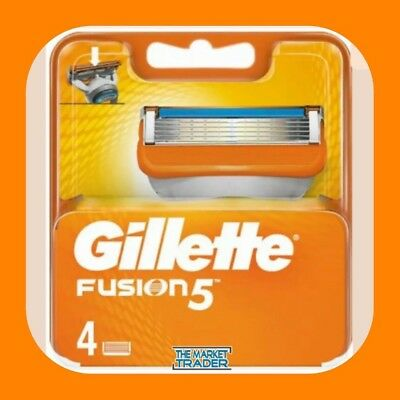 GILLETTE FUSION Razor Blades 4 Pack - 100% GENUINE NO FAKES - FAST FREE POSTAGE