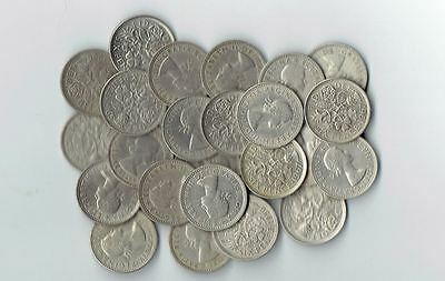 "Lot of 21 - Sixpence - Wedding - ""Something Old something New"" ** 21 Coins **"