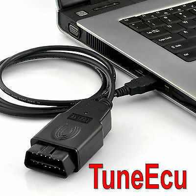 TuneEcu compatible lead + map and software KKL FTDI black