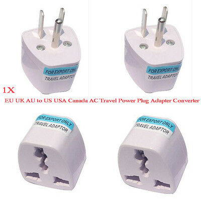 Universal EU UK AU to US USA Canada AC Travel Power Plug Adapter Converter