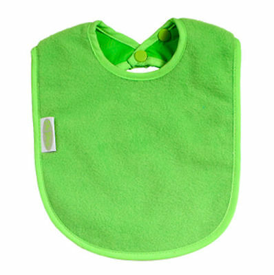 Silly Billyz Fleece Plain Bib - Lime Green - 3 - 36 mths