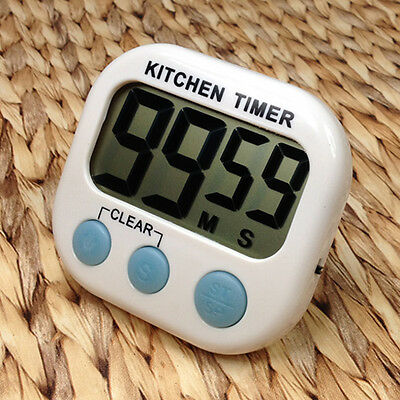 Digital Kitchen Cooking Large LCD Timer Count Down Up Clock Alarm Magnetic WFEU