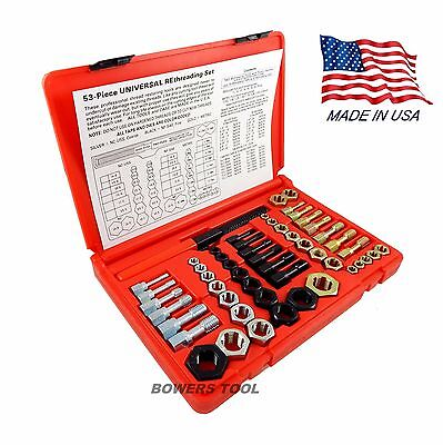 Jawco Metric NF-SAE NC-USS Rethreading Set Thread Restore File Tap Dies 53pc USA