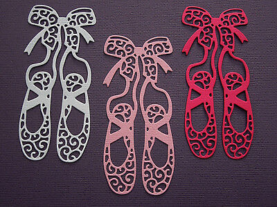 Ballet Shoes Die Cuts x 8 Scrapbooking Cardmaking Embellishment