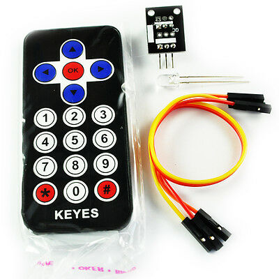 Infrared IR Wireless Remote Control Module Kit with Infrared Sensor  for Arduino