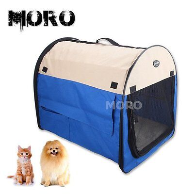 Pet Soft Crate Portable Dog Cat Carrier Travel Cage Kennel Folding Large M-XL