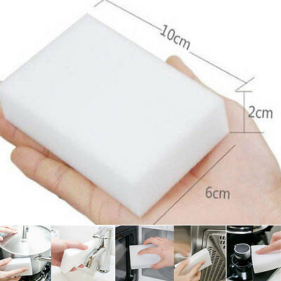10x Melamine Foam Magic Sponge Eraser Multi Functional Home Cleaning Cleaner Pad