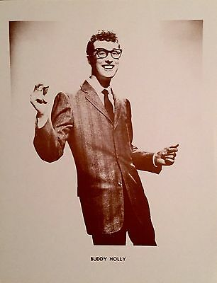 Buddy Holly In His Prime Sepia Poster