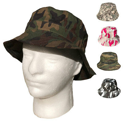 1 Dozen Camo Camouflage Bucket Hat Hats Cap Caps Hunting Fishing Wholesale Lot