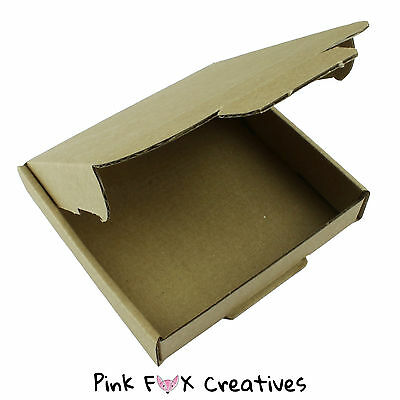 10 x 10 x 2cm LARGE LETTER PiP POSTAL BOX JEWELLERY CARDBOARD PARCEL PACKING