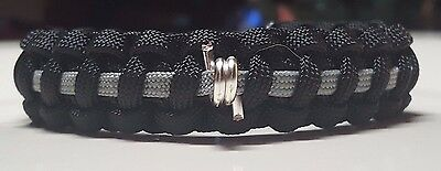 Thin Gray Line Correctional Officer Paracord Bracelet with a Single Barbwire ™