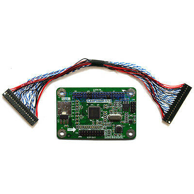 LVDS to eDP Signal Conversion Adapter Board For DIY Embedded DisplayPort Monitor