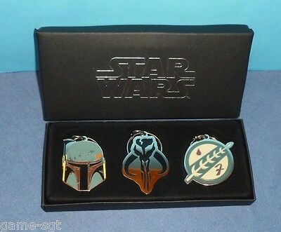 Star Wars Boba Fett Keychain Set Limited SDCC 2014 Mandalorian  (M)