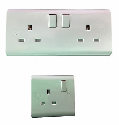 UK White Light Switches and Sockets TV Satellite Plate Electrical +Screw Covers